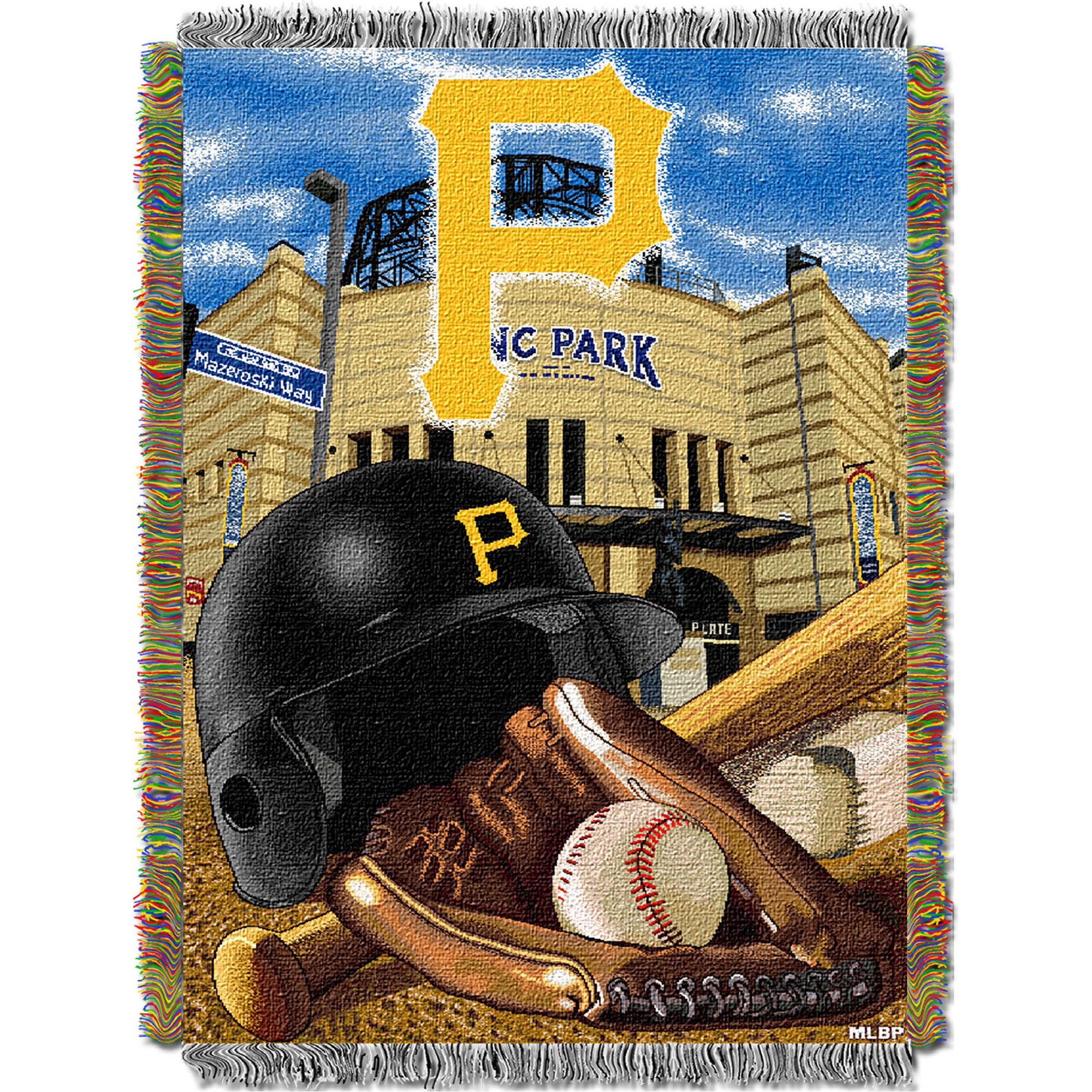 Pittsburgh Pirates The Northwest Company 48'' x 60'' Home Advantage Woven Throw - No Size