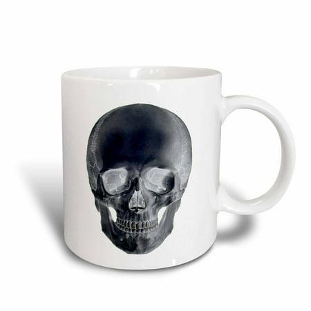 3dRose Skull in Negative, Ceramic Mug, 15-ounce](Ceramic Skulls)