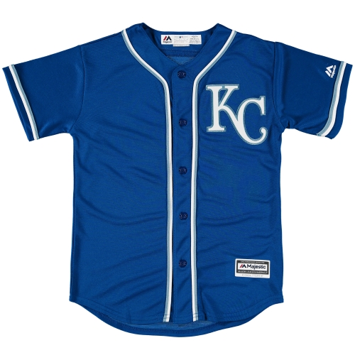 Youth Majestic Royal Blue Kansas City Royals Official Cool Base Jersey