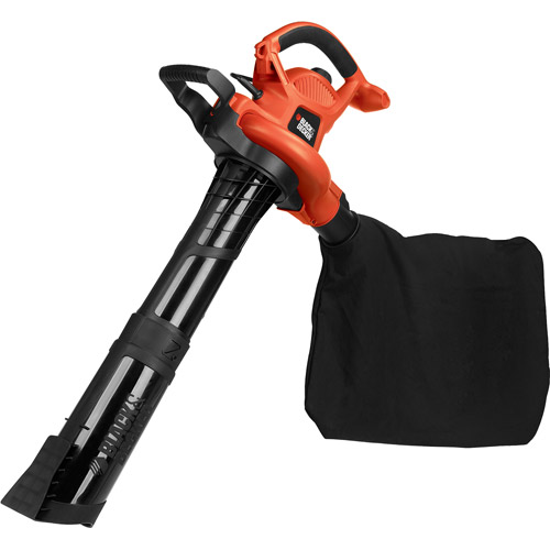 Black and Decker 12-Amp Electric High-Performance Blower Vacuum with Disposable Bag Kit, Orange