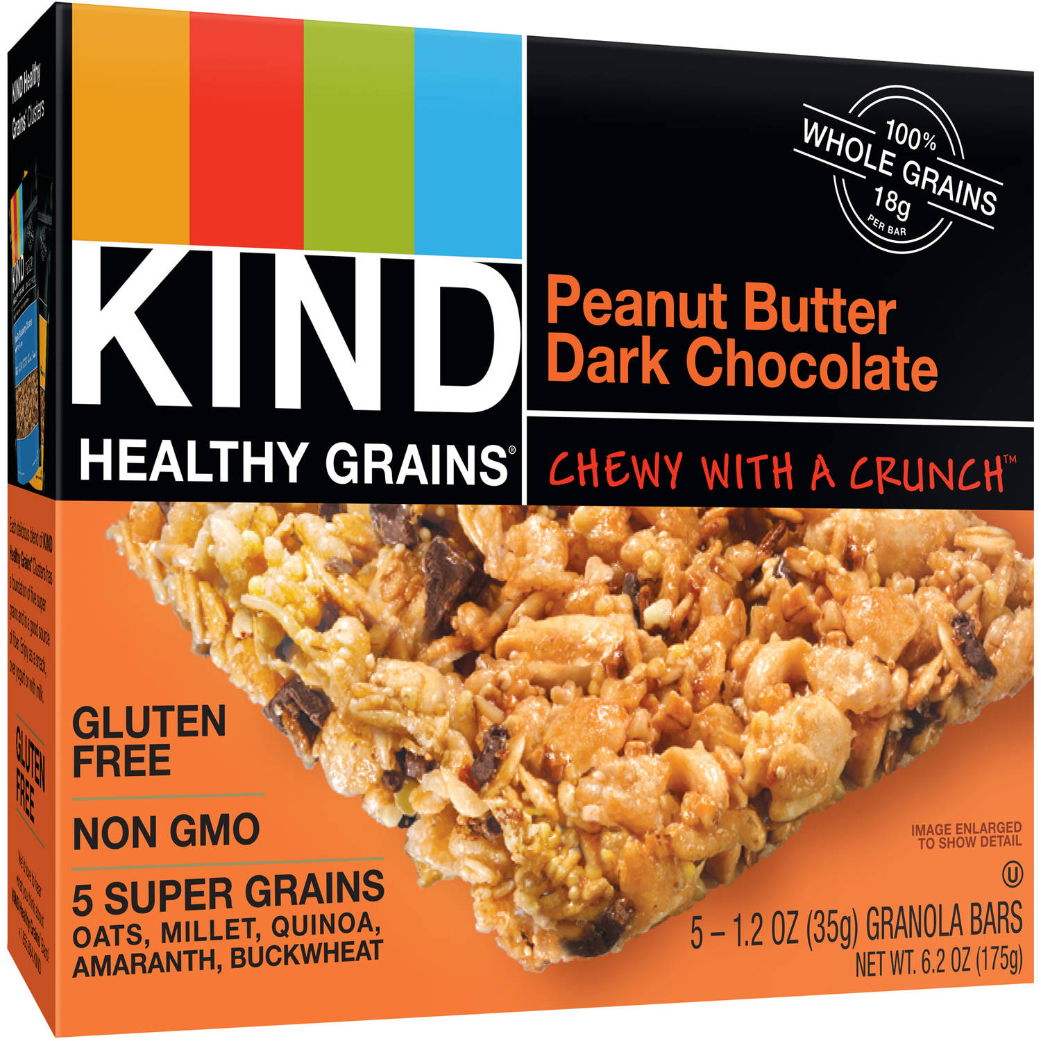 KIND Healthy Grains Bars, Peanut Butter Dark Chocolate, 1.2 oz, 40 Count
