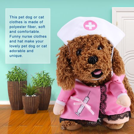 Estink Funny Pet Clothing Puppy Dog Cat Outfit Cosplay Puppy Nurse Outfit Costume Theme Party Costume  Dog Cat Outfit Funny Party - Dog Cosplay Costumes