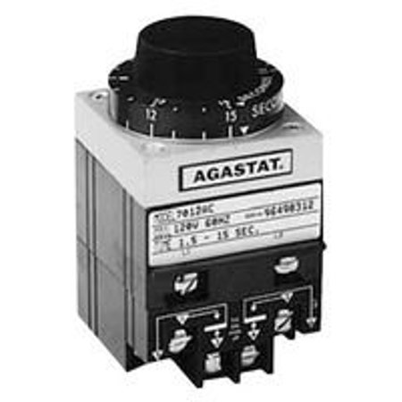 Amperite Time Delay Relay (TE CONNECTIVITY / AGASTAT 7012PH RELAY, TIME DELAY, DPDT, 3MIN TO 30MIN, 240VAC)