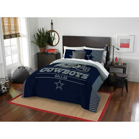 Sam Football - Dallas Cowboys COMBO 5 Pc FULL / QUEEN Size Comforter Set Includes: Comforter, 2 Pillow Shams & 2 Pillowcases -NFL Football Bedding Accessories