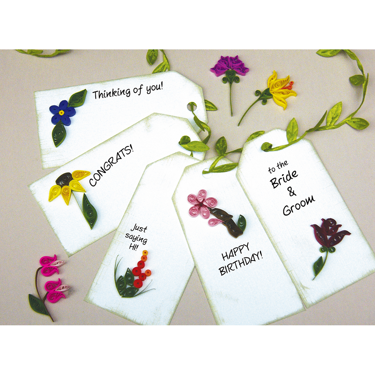 Quilling Kit, Mini Flower Gift Tags