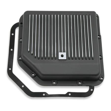 Mr. Gasket 9795BMRG Auto Trans Oil Pan  GM TH350; Stock Capacity; Black; Aluminum; With Drain Plug/ Mounting Hardware/ Gasket - image 1 de 1