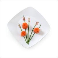 "7 1/2"" Sq. Renaissance White Plastic Square Salad Plates,Pack of 10 EA"