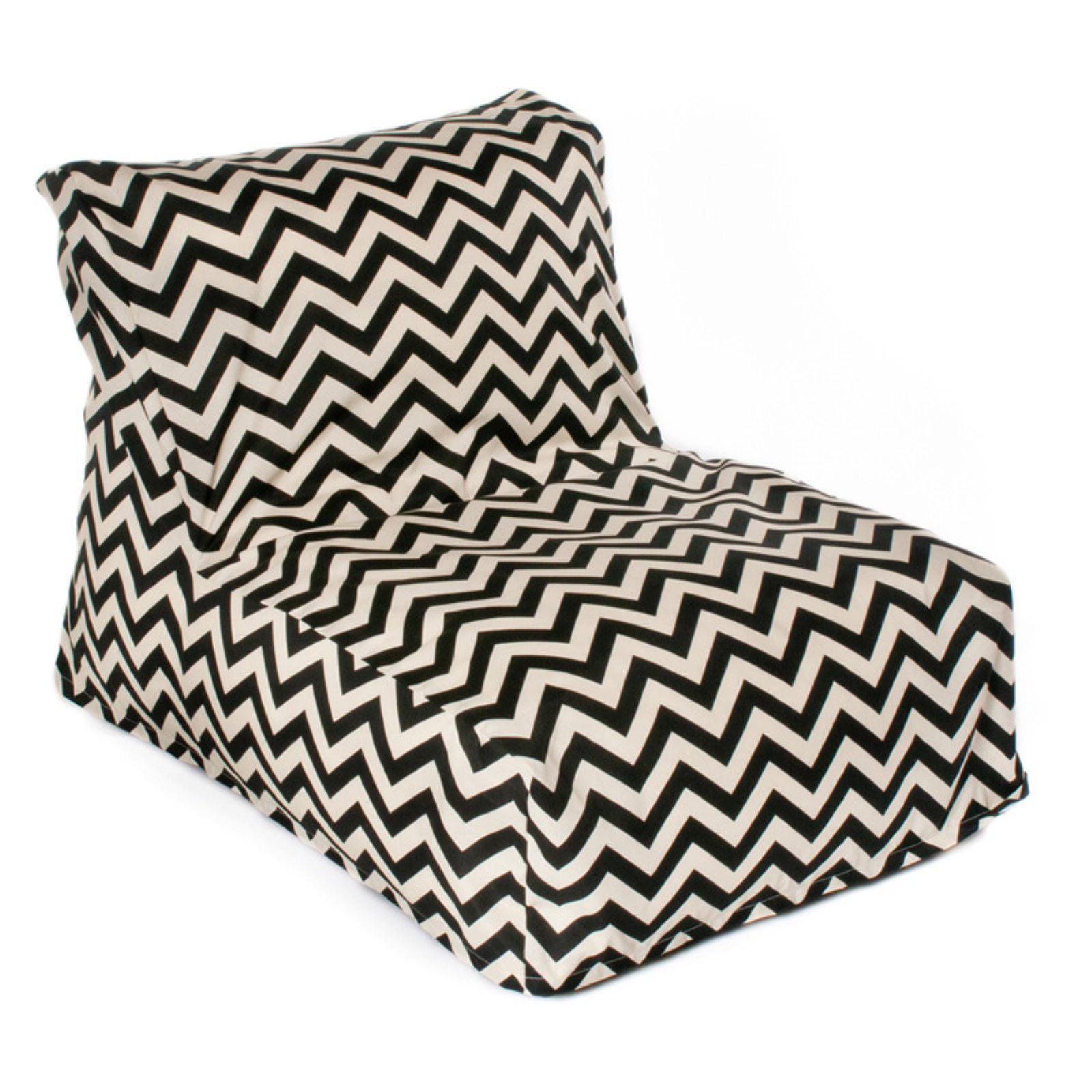 Fabulous Hrh Designs Indoor Outdoor Beanbag Chair Chevron Inzonedesignstudio Interior Chair Design Inzonedesignstudiocom
