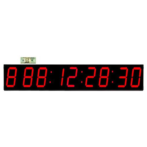 Big Time Clocks Huge 7'' Digit LED 1000 Day Event Timer Countdown Clock by Big Time Clocks