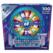 Pressman Wheel of Fortune Game: 5th Edition - Spin the Wheel, Solve a Puzzle, and Win!