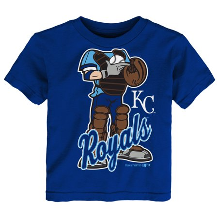 MLB Kansas City ROYALS TEE Short Sleeve Boys 50% Cotton 50% Poly Team Color 12M-4T
