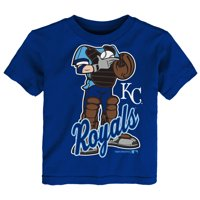 MLB Kansas City ROYALS TEE Short Sleeve Boys 50% Cotton 50% Poly Team Color 12M-4T