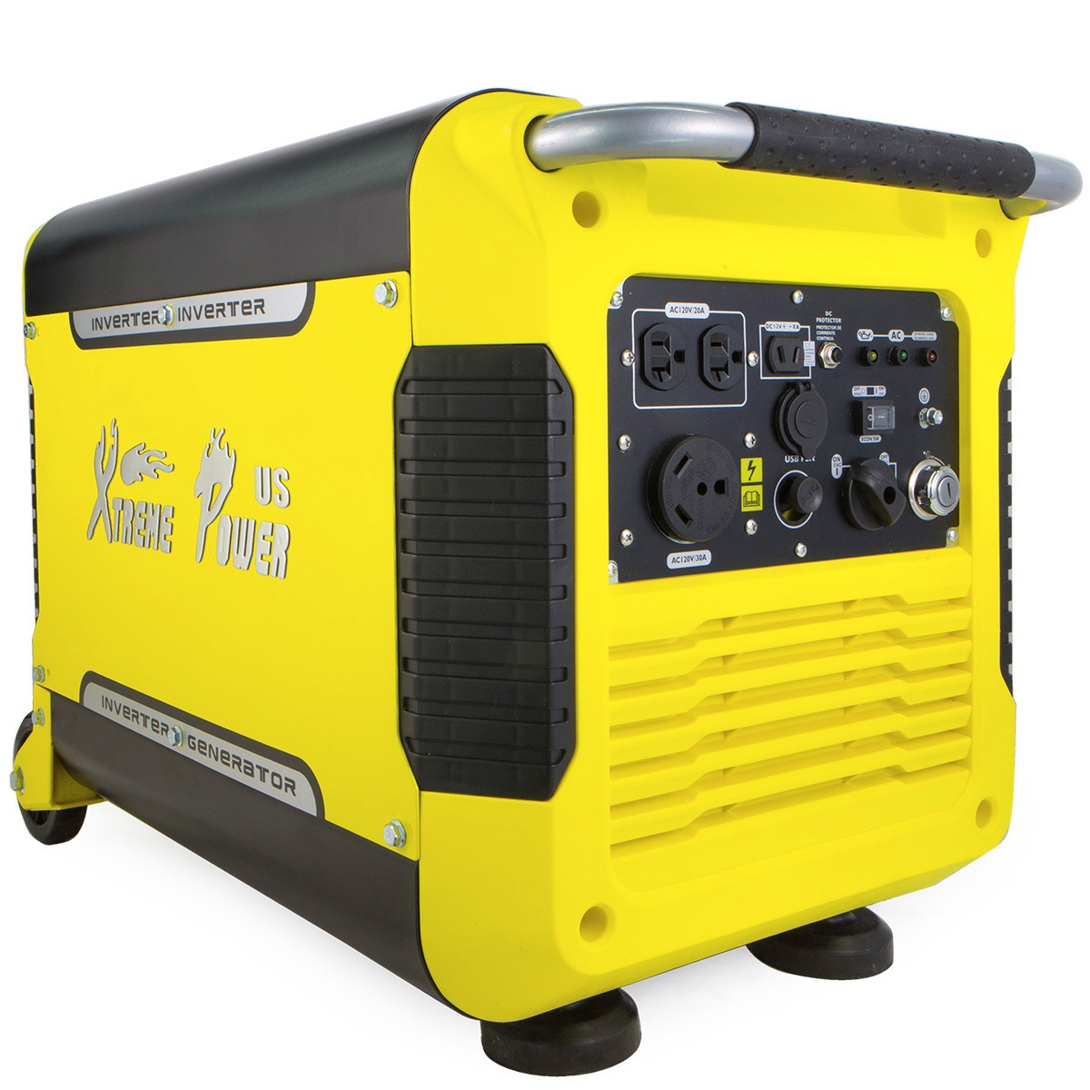XtremepowerUS 3000 Watt Electric Start Digital Portable Inverter Generator