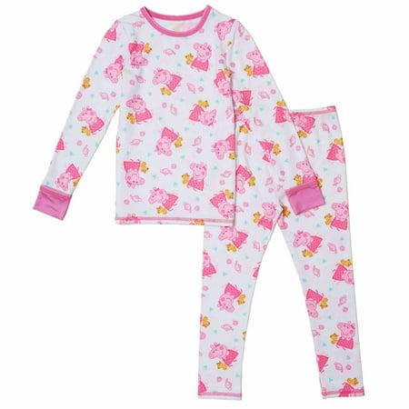 f2292283719c Cuddl Duds - Cuddl Duds Toddler Girls White Peppa Pig Thermal ...