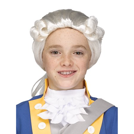 Child George Washington Costume Colonial Wig