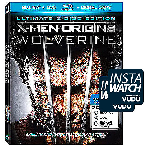 X-Men Origins: Wolverine (Exclusive) (3-Disc) (Blu-ray) (With BD-Live + Digital Copy + DVD) (Widescreen)