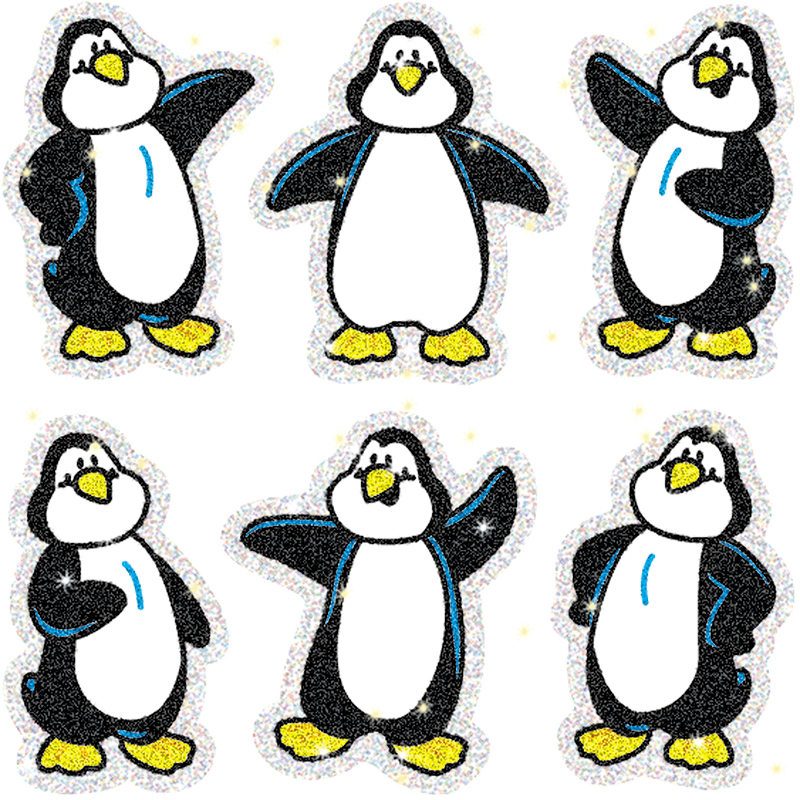 DAZZLE STICKERS PENGUINS 90-PK ACID & LIGNIN FREE