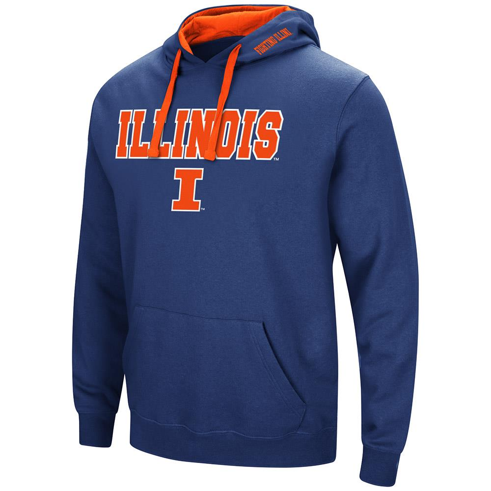 Mens Illinois Fighting Illini Pull-over Hoodie - L