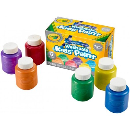 Crayola Metallic Colors Washable Kids Paint - 2 Oz - 6/set - Red ...