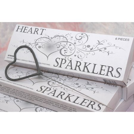 Heart Shaped Wedding Sparklers - 72 Wedding Sparklers Favors