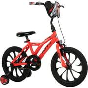 Huffy 16-inch Flashfire Boys' Bike for Kids, Red Neon