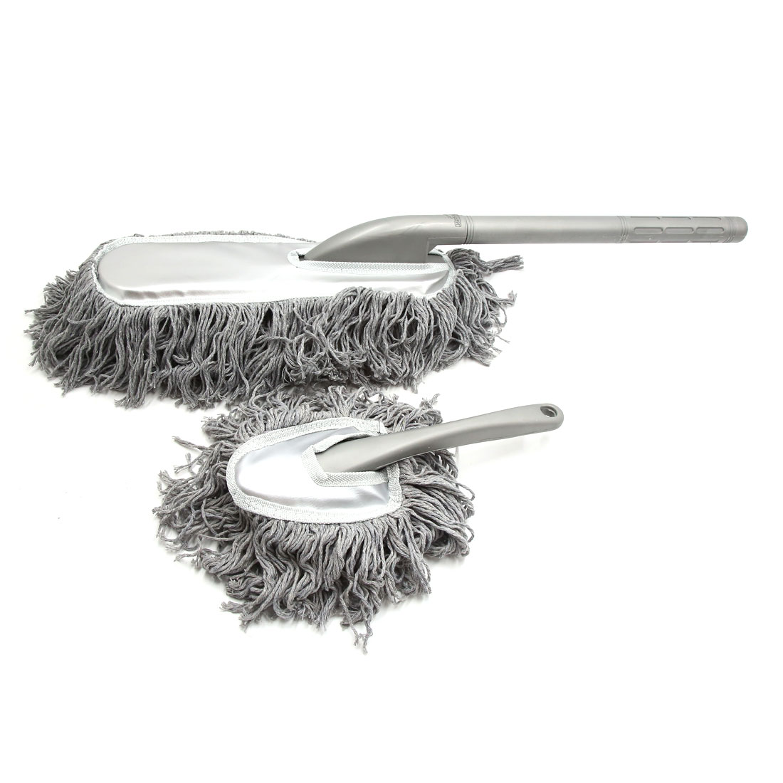 Gray Cotton Thead Foam Handle Car Cleaning Brush Duster Dust Wax Mop Tool