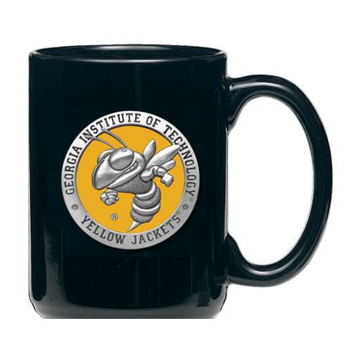 Georgia Tech Yellow Jackets Black Mascot Coffee Mug Set