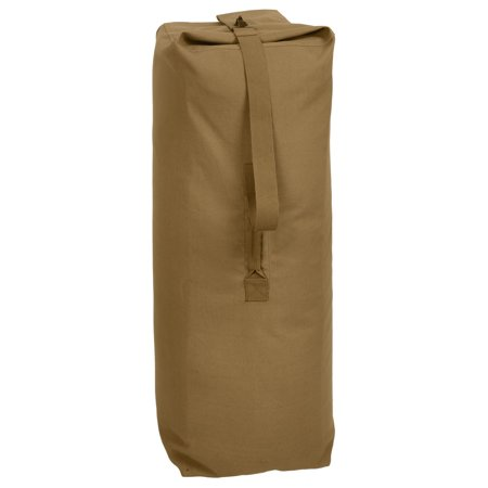 Rothco Heavyweight Top Load Canvas Duffle Bag - Coyote Brown, 30
