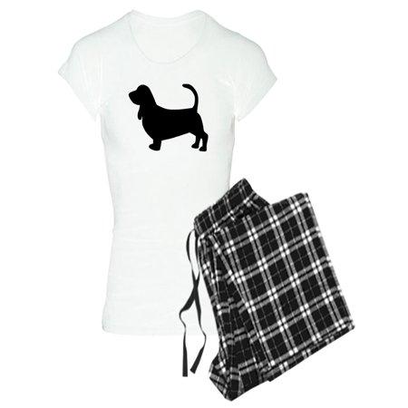 ae7088b8eb9ff CafePress - Basset Hound Silhouette - Women's Light Pajamas