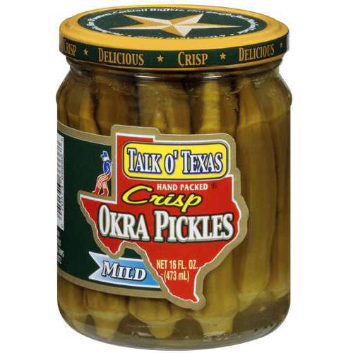 Talk O' Texas Hand Packed Mild Okra Pickles, 16 fl oz