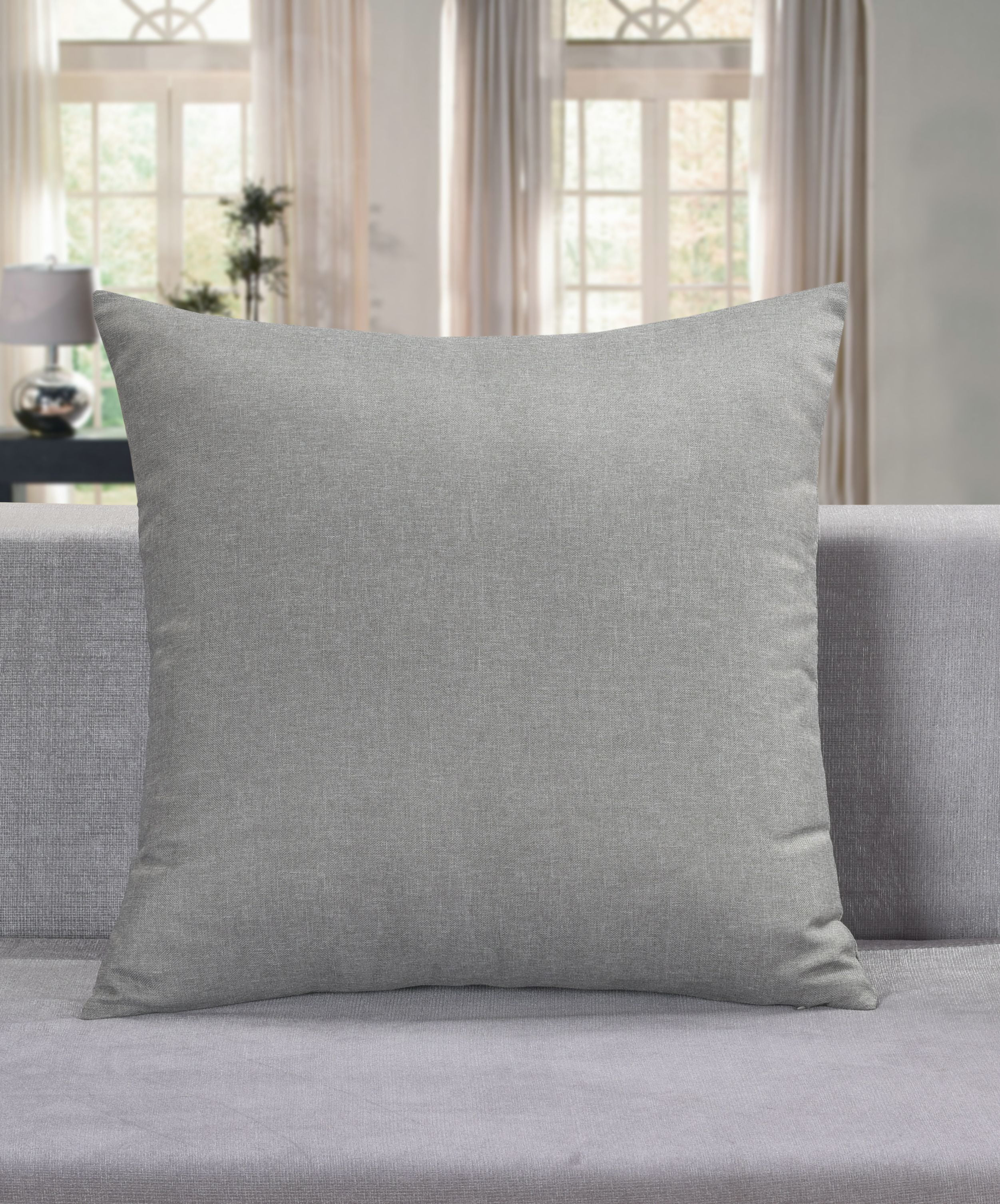 24x24 Aiking Home Collection Aiking Home Breathable Solid Faux Linen Euro Sham Pillow Cover For Sofa Couch Or Bedroom 24x24 Lagoon Couch Or Bedroom Throw Pillow Covers