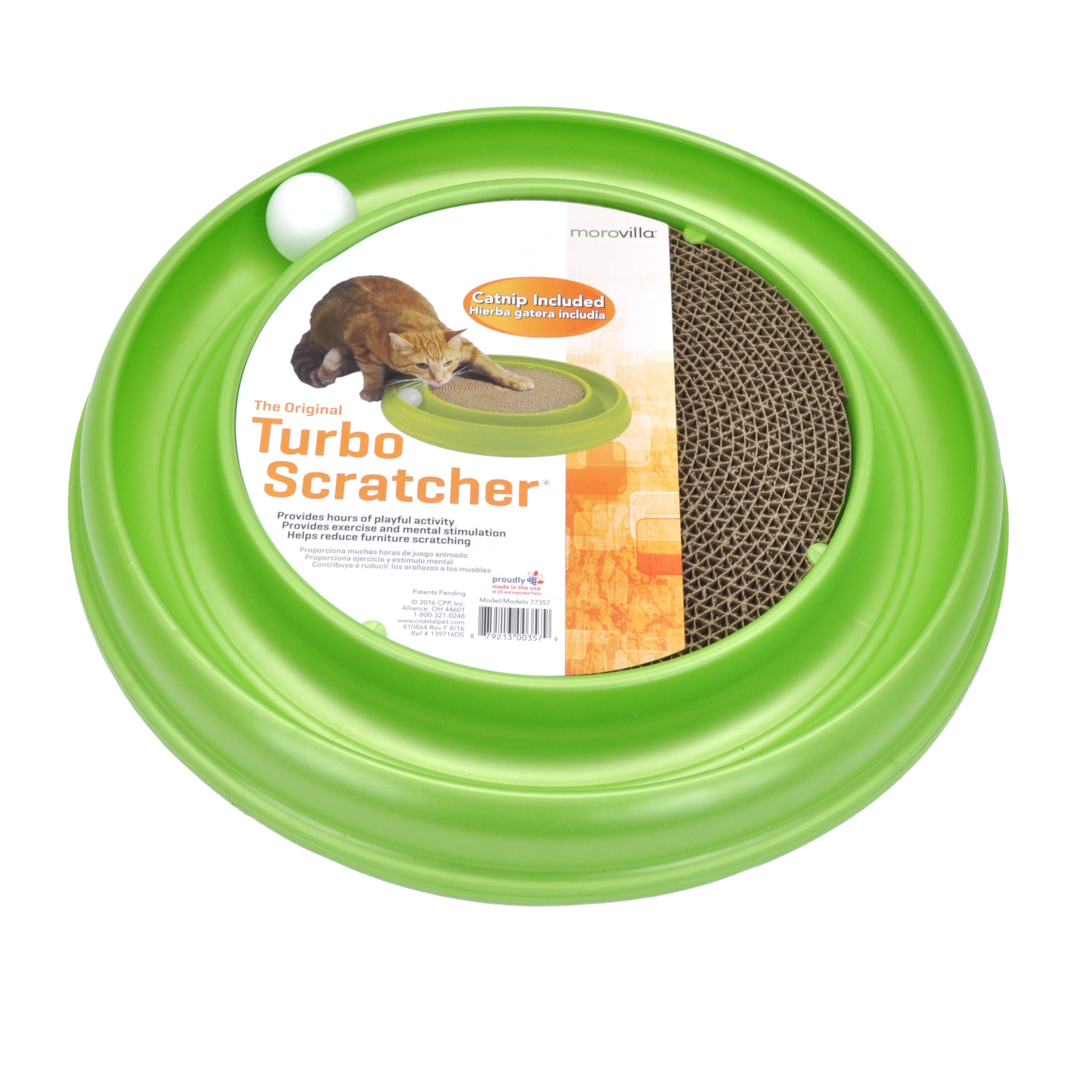 Morovilla Turbo Interactive Scratcher Cat Toy by CPP, Inc.