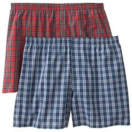 Christopher Hart 2-Pack Plaid Boxers Big Sizes (6X, Assorted Plaids)