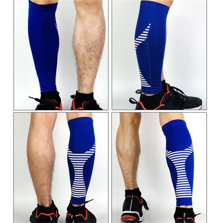 4ac1ea290a Compression Calf Sleeves - 1 Pair Strong Calf Support for Shin Splint &  Calf Pain Relief.Leg Compression Socks Men Women Runners Guards Sleeves for  Running ...
