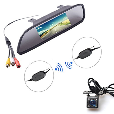 E Kylin Wireless Car Auto 4 3 Inch Lcd Tft Rear View Mirror Mount Monitor   Universal Screw Mount Backup Camera Reverse Parking System Ir Night Vision