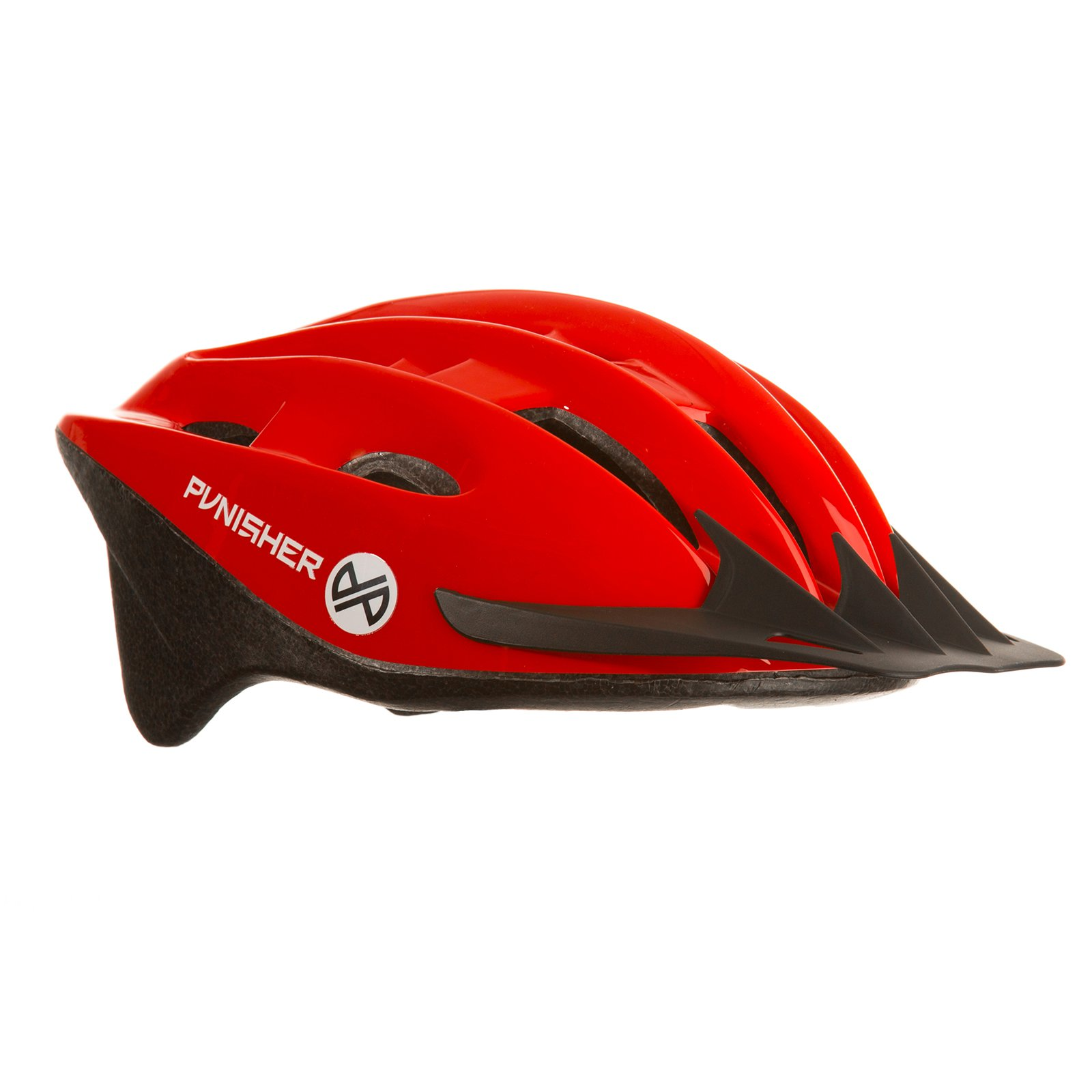 Punisher 18-Vent Adult Cycling Helmet with Imitation In-Mold, Red, Ages 12+ by Punisher Skateboards