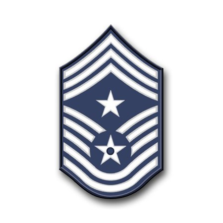 3.8 Inch Air Force Command Chief Master Sergeant Vinyl Transfer Decal