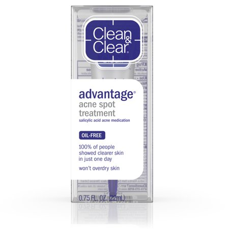 Clean & Clear Advantage Spot Treatment with Witch Hazel,.75 fl. - Acid Acne Treatment Power Foam