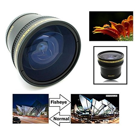 G15 Lens (0.17x Hi-Definition Super Fisheye Lens With Macro for Canon Powershot G15 G16 (58mm Lens, Adapter LA-DC58C not)
