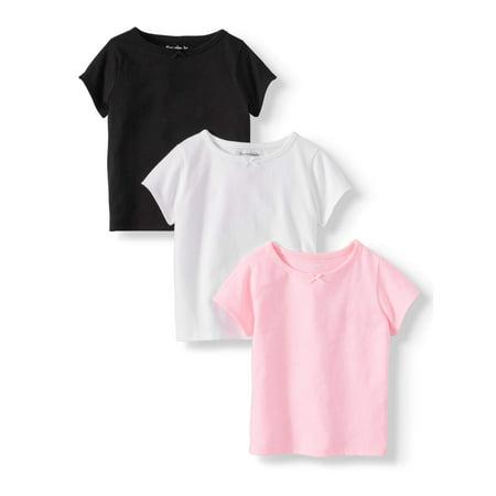 Garanimals Solid Crew Neck T-Shirts, 3pc Multi-Pack (Baby Girls) Baby Original Vintage T-shirt