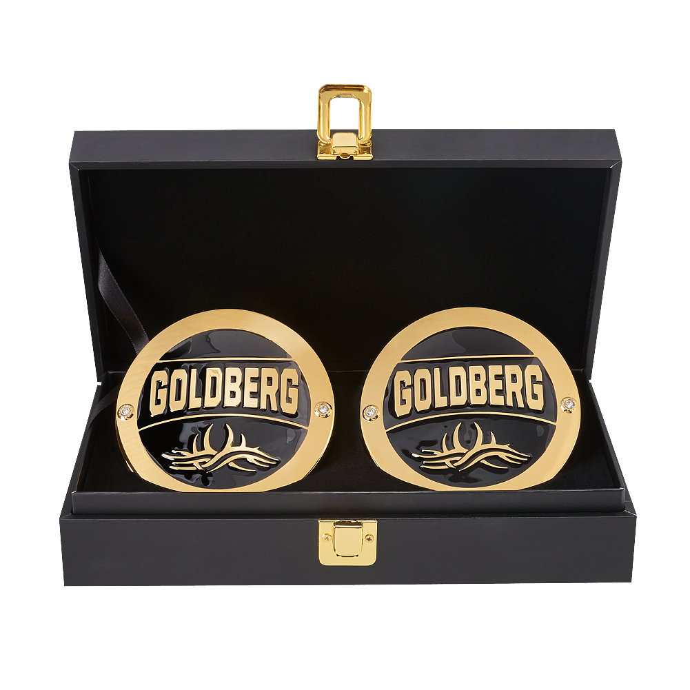 Official WWE Authentic Goldberg Championship Replica Side Plate Box Set