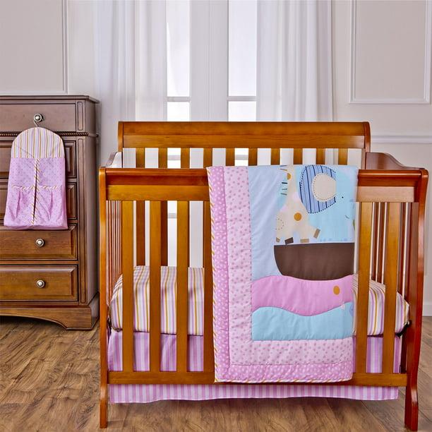 Pc Reversible Portable Crib Bedding Set, Dream On Me Portable Crib Bedding