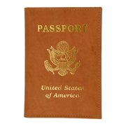 Genuine Leather USA imprinted Passport wallet and Credit Card holder