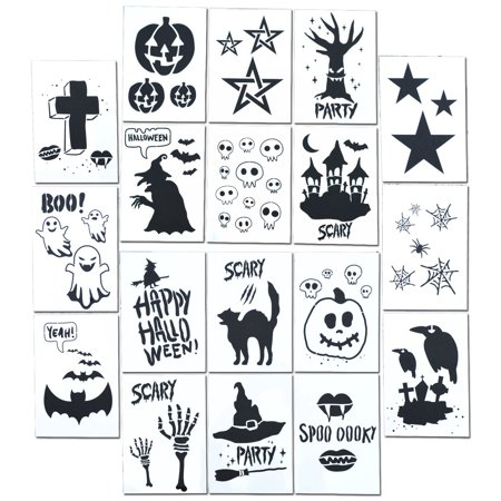 Stencils To Carve A Pumpkin For Halloween (Halloween Ghost Airbrush Spray Paint Craft DIY Painting Stencil Kit (18)