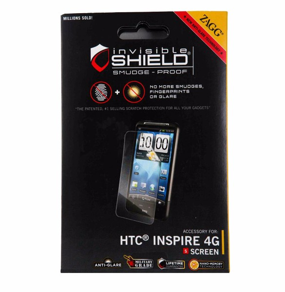 Zagg invisibleSHIELD Screen Protector for HTC Inspire 4G(New Package)