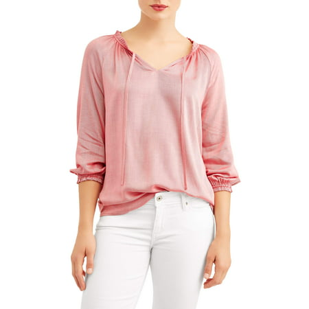 Women's Ruffle Peasant Blouse ()