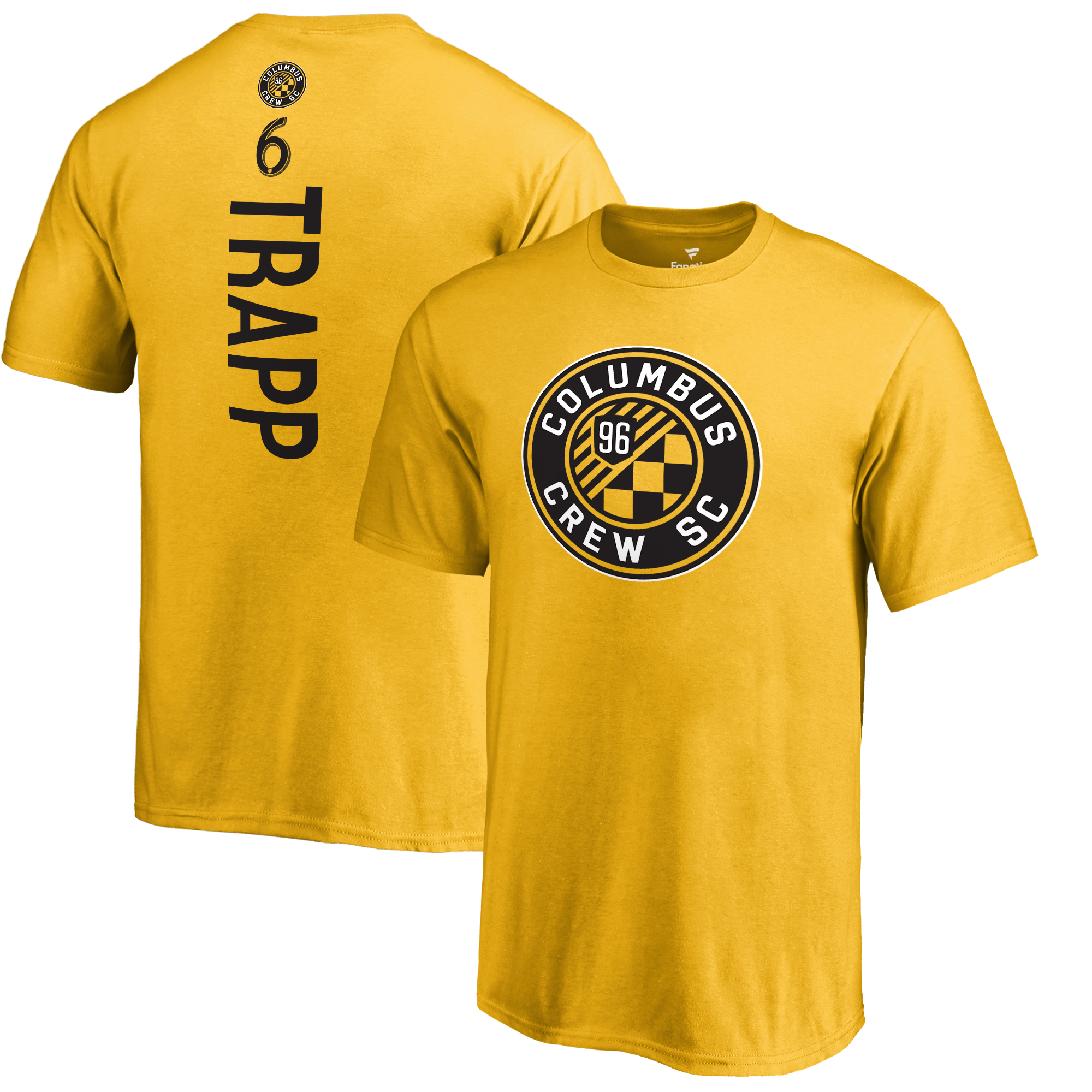 Wil Trapp Columbus Crew SC Fanatics Branded Youth Backer Name & Number T-Shirt - Yellow