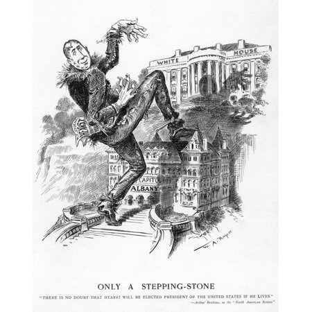 Hearst Cartoon NOnly A Stepping Stone Cartoon By WA Rogers From Hw Oct 27 1906 Of William Randolph Hearst (Dressed As The Scarecrow From The Wizard Of Oz) On The Political Ambition Of Hearst To Reach (Scarecrow From Wizard Of Oz)