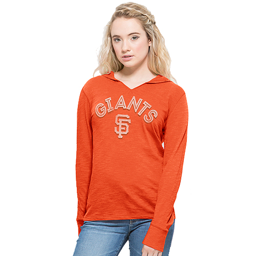 San Francisco Giants '47 Women's Shoreline Primetime Pullover Hoodie - Orange