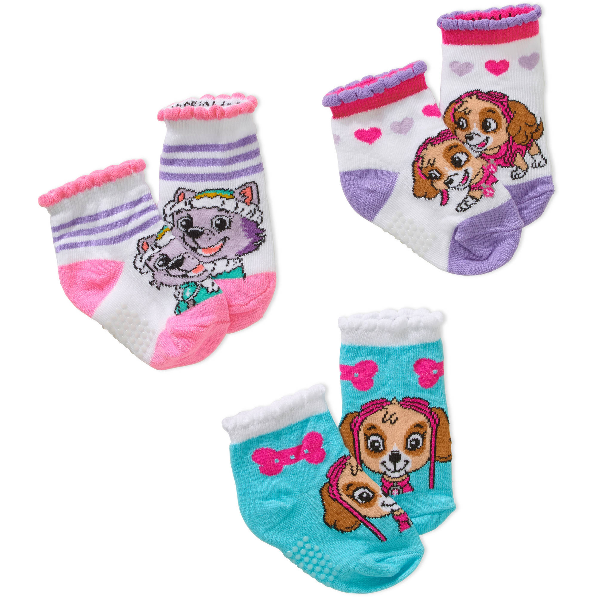 Nickelodeon Paw Patrol Newborn Infant Baby Boy Quarter Socks, 3-Pack